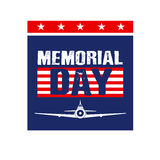 Memorial Day Card image. Royalty Free Stock Photography
