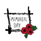 Memorial day card with poppies Royalty Free Stock Photo
