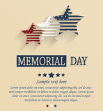 Memorial Day card. Red, white and blue stars Stock Images