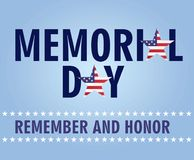 Memorial day card stock illustration