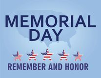 Memorial day card vector illustration