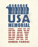 Memorial day card in vintage style Royalty Free Stock Photography