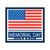 Memorial day celebration of U.S.A Royalty Free Stock Photography
