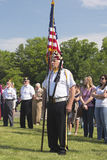 Memorial Day -Ceremonie Stock Afbeeldingen