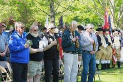 Memorial Day -Ceremoniegreep in Lexington, Massachusetts op 22 Mei, 2019 royalty-vrije stock afbeelding