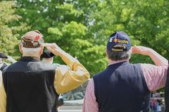 Memorial Day ceremonii chwyt w Lexington, Massachusetts na Maju 26, 2014 zdjęcia royalty free