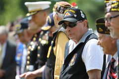 Memorial Day ceremonii chwyt w Lexington, Massachusetts na Maju 26, 2014 zdjęcie royalty free