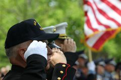 Memorial Day ceremonii chwyt w Lexington, Massachusetts na Maju 26,2014 zdjęcia royalty free