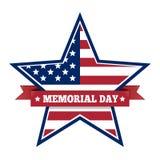 Memorial Day con la estrella en colores de la bandera nacional de los E.E.U.U. libre illustration