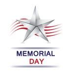 Memorial Day con la stella di origami Fotografie Stock