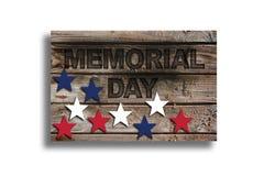 Memorial Day con las estrellas Imagen de archivo