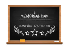 Memorial Day concept design with hand lettering Royalty Free Stock Images