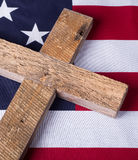 Memorial Day Cross and Flag Royalty Free Stock Image