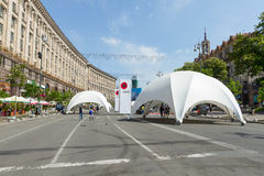 Memorial Day da segunda guerra mundial em Kiev Fotografia de Stock Royalty Free