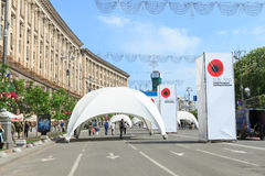 Memorial Day de la Segunda Guerra Mundial en Khreshchatyk Imagen de archivo
