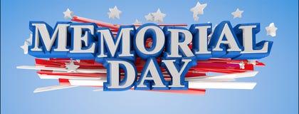Memorial Day de los E.E.U.U. Foto de archivo