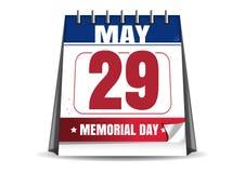 Memorial Day 2017 29 de maio Calendário de mesa Imagens de Stock