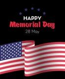 Memorial Day 26 de mayo feliz Tarjeta de felicitación del vector Fotos de archivo