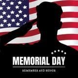 Memorial Day de V.S. Herinner me en eer vector illustratie