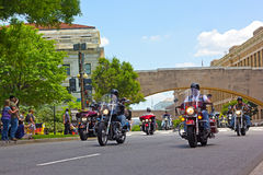 Memorial Day -de verzameling van weekendmotoren in Washington DC Royalty-vrije Stock Foto