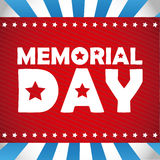 Memorial Day -Design Stockfoto