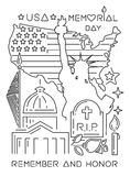 Memorial Day design concept Royalty Free Stock Image