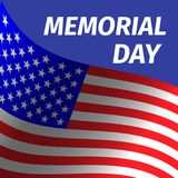 Memorial day design with flag. Royalty Free Stock Image