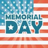 Memorial Day design Royalty Free Stock Photo