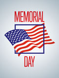 Memorial Day design Stock Photography
