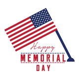 Memorial day emblem. Isolated memorial day emblem on a white background, Vector illustration Royalty Free Stock Image