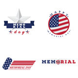Memorial day emblems Stock Images