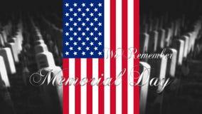 Memorial Day Etats-Unis d'Amérique Drapeau américain avec Cemet Photographie stock libre de droits
