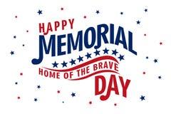 Memorial Day feliz ilustración del vector