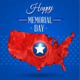 Memorial Day feliz azul Foto de archivo