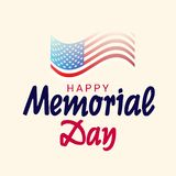 Memorial Day feliz ilustração royalty free