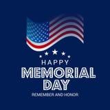 Memorial Day feliz ilustração stock