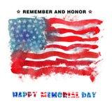 Memorial Day feliz Recuerde y honre Imagen de archivo libre de regalías