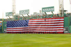 Memorial Day festivities before Red Sox game. Boston - May 30: Memorial Day festivities before the Red Sox game against the Chicago White Sox at Fenway Park May Royalty Free Stock Image