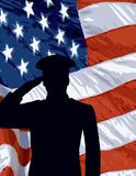 Memorial Day Flag Stock Photography