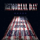 Memorial Day - flag and lettering 16 Royalty Free Stock Photos