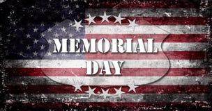 Memorial Day -Flagge und Beschriftung 6 Lizenzfreies Stockbild