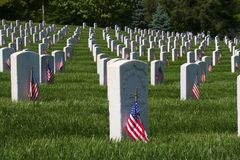 Memorial Day Flags. Memorial Day is U.S. Federal Holiday that is observed on the last Monday of May. This holiday commemorates U.S. men and women who have died Stock Image