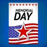 Memorial Day Flayer Stockfotos