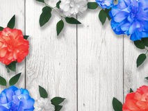 Memorial Day Flower Border Background Royalty Free Stock Photography