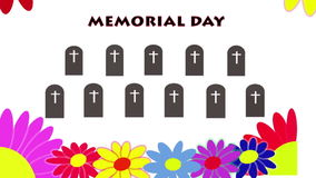 Memorial Day stock video footage