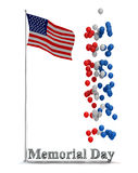 Memorial day Flyer Graphic Stock Photo