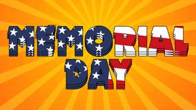 Memorial Day Graphic 002 - High Resolution USA Flag. And Colorful Background royalty free illustration