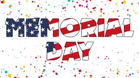 Memorial Day Graphic 001 - High Resolution USA Flag1. Memorial Day Graphic 001 - High Resolution USA Flag and Colorful Background stock illustration