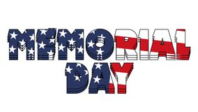 Memorial Day Graphic 004 - High Resolution USA Flag. And Colorful Background stock illustration
