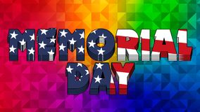 Memorial Day Graphic 005 - High Resolution USA Flag. And Colorful Background royalty free illustration
